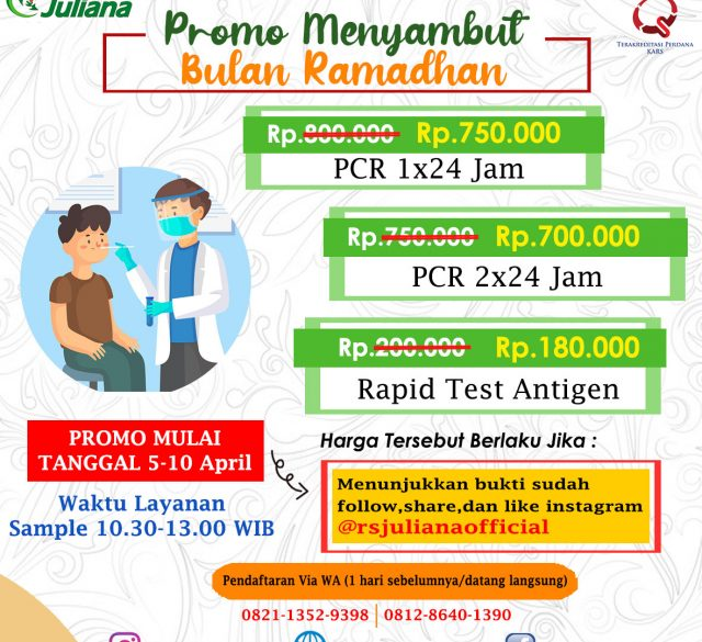 Promo SWAB Test dan Rapid Antigen